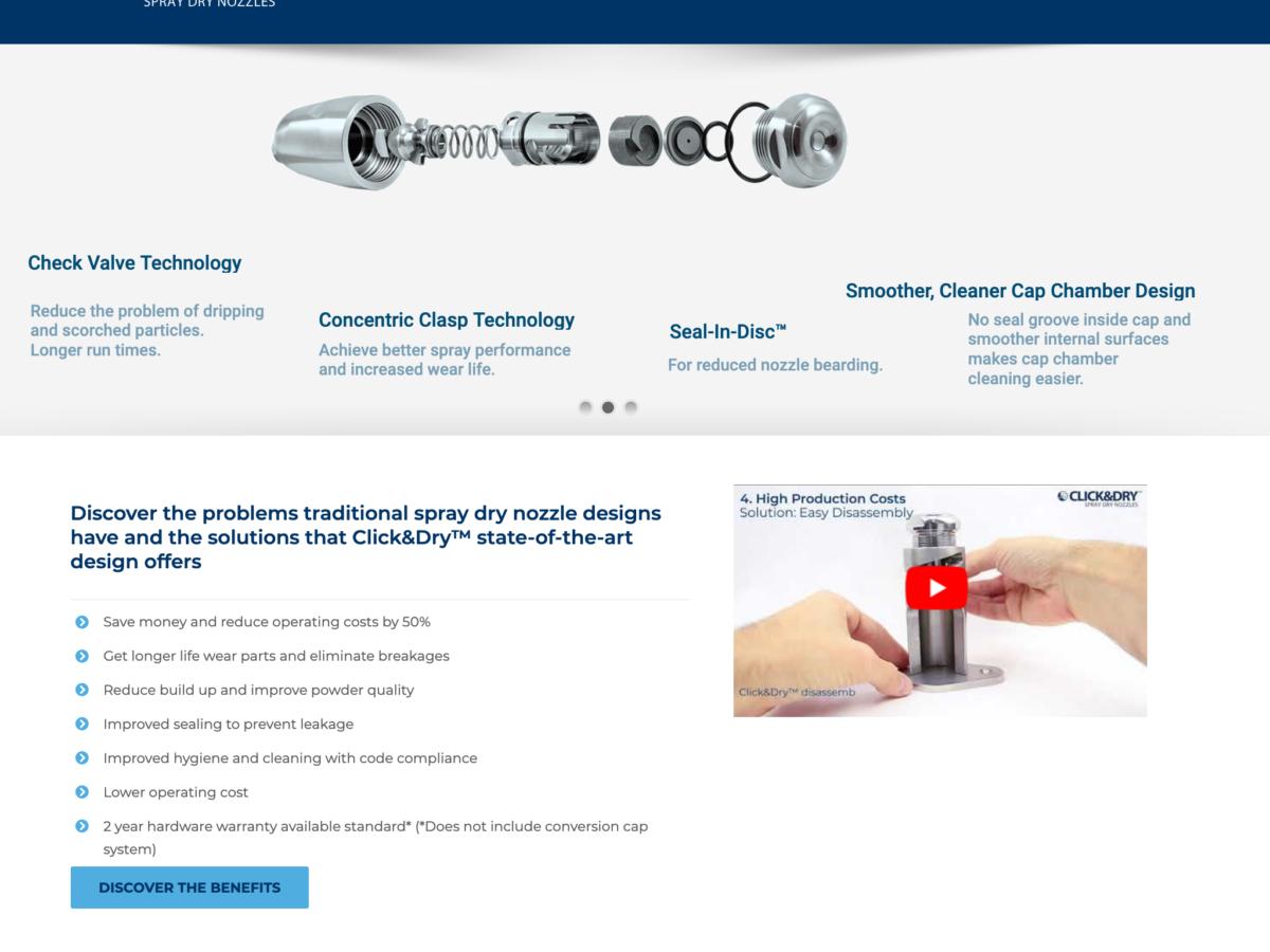 Click&Dry – Spray Dry nozzles